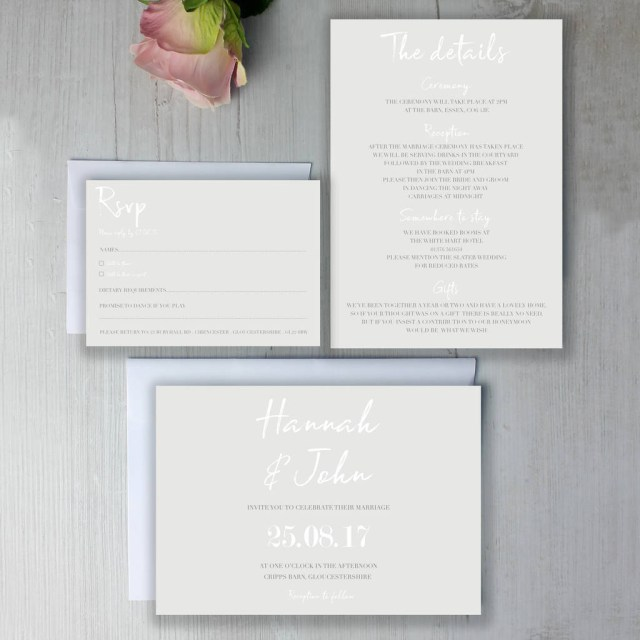 Wedding Invitation Suite Modern Classic Wedding Invitation Suite Beija Flor Studio