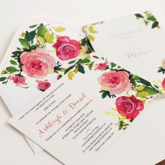 Wedding Invitations Essex Vintage Rose Wedding Invitations Victorian Roses