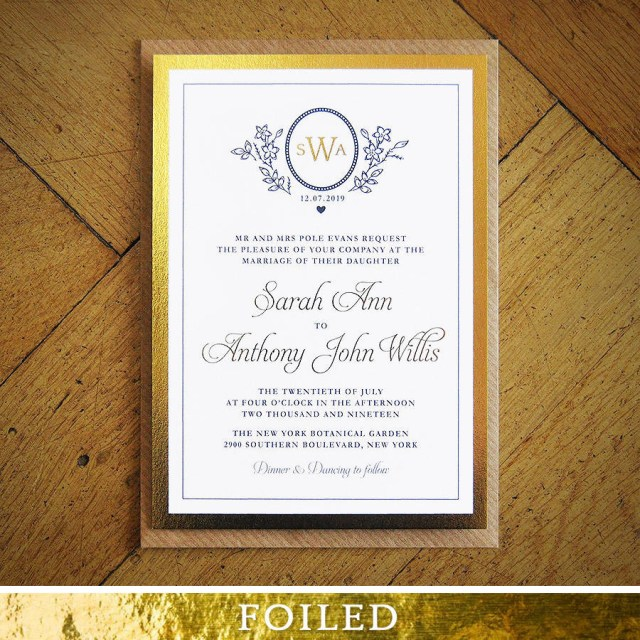 Wedding Invitations Gold Ascot Gold Foil Wedding Invitation Feel Good Wedding Invitations