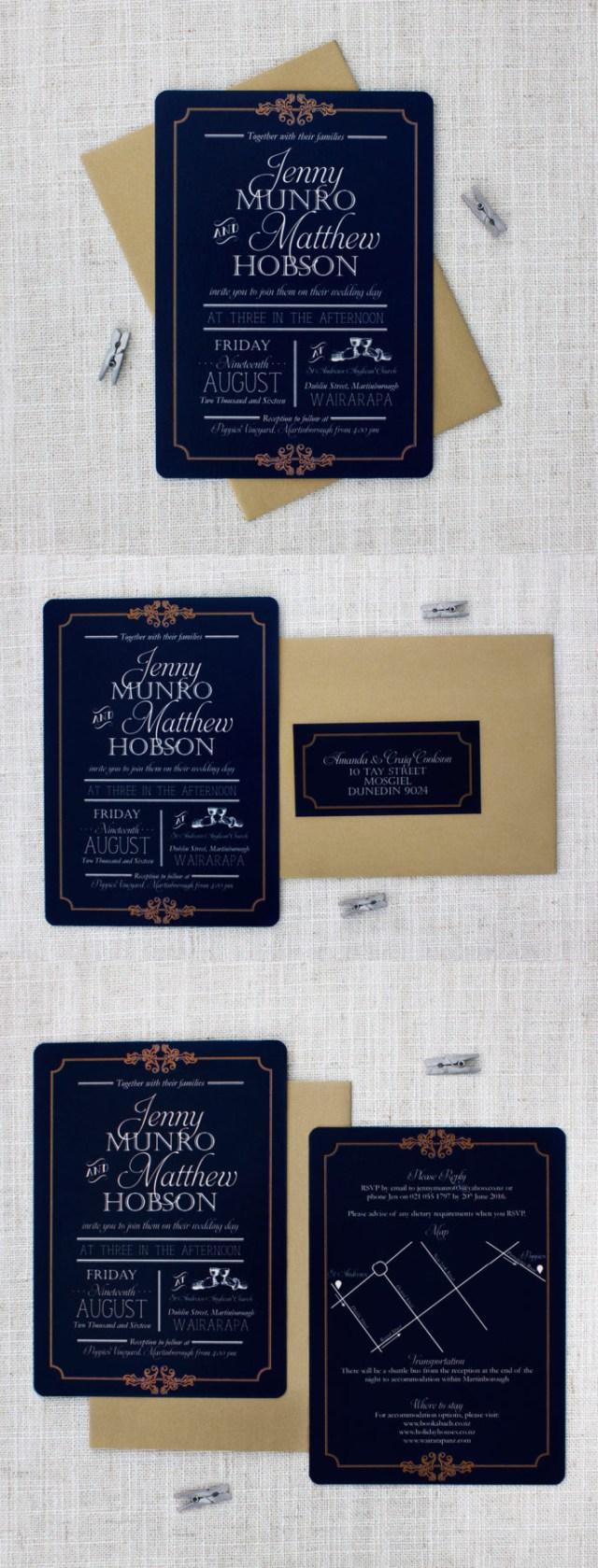 Wedding Invitations Gold Elegant Navy And Gold Wedding Invitation Be My Guest