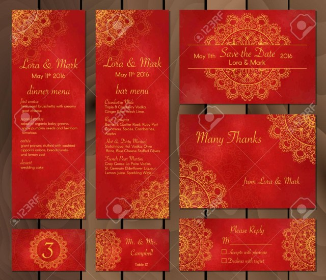 Wedding Invitations Indian Collection Of Ethnic Cardsmenu Or Wedding Invitations With Indian