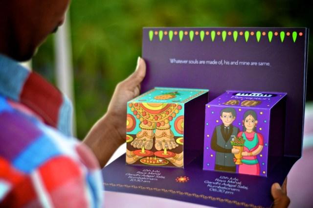 Wedding Invitations Indian Creative Pop Up South Indian Wedding Invite Design On Behance