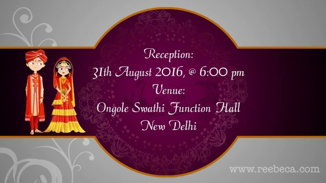 Wedding Invitations Indian Shubh Vivah Indian Animated Wedding Video Invitation Theme