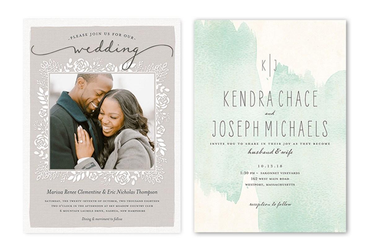 Wedding Invitations With Photos 35 Wedding Invitation Wording Examples 2018 Shutterfly