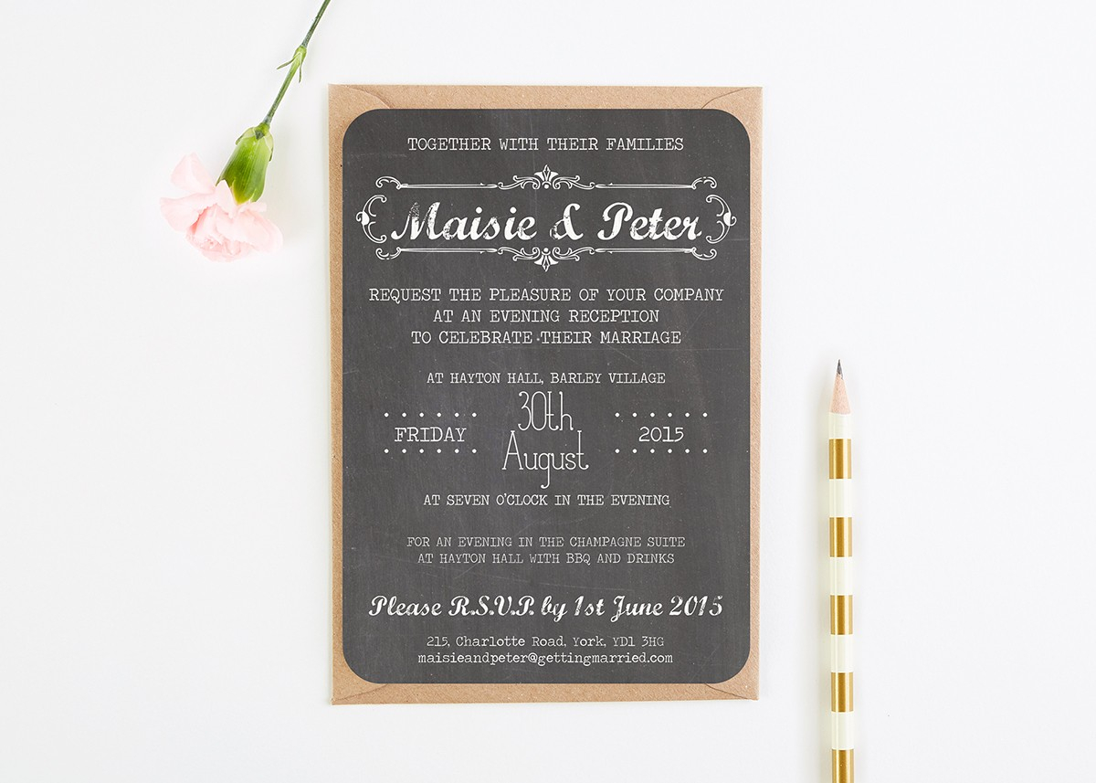 Wedding Invitations With Photos Evening Wedding Invitations Reception Invites Normadorothy
