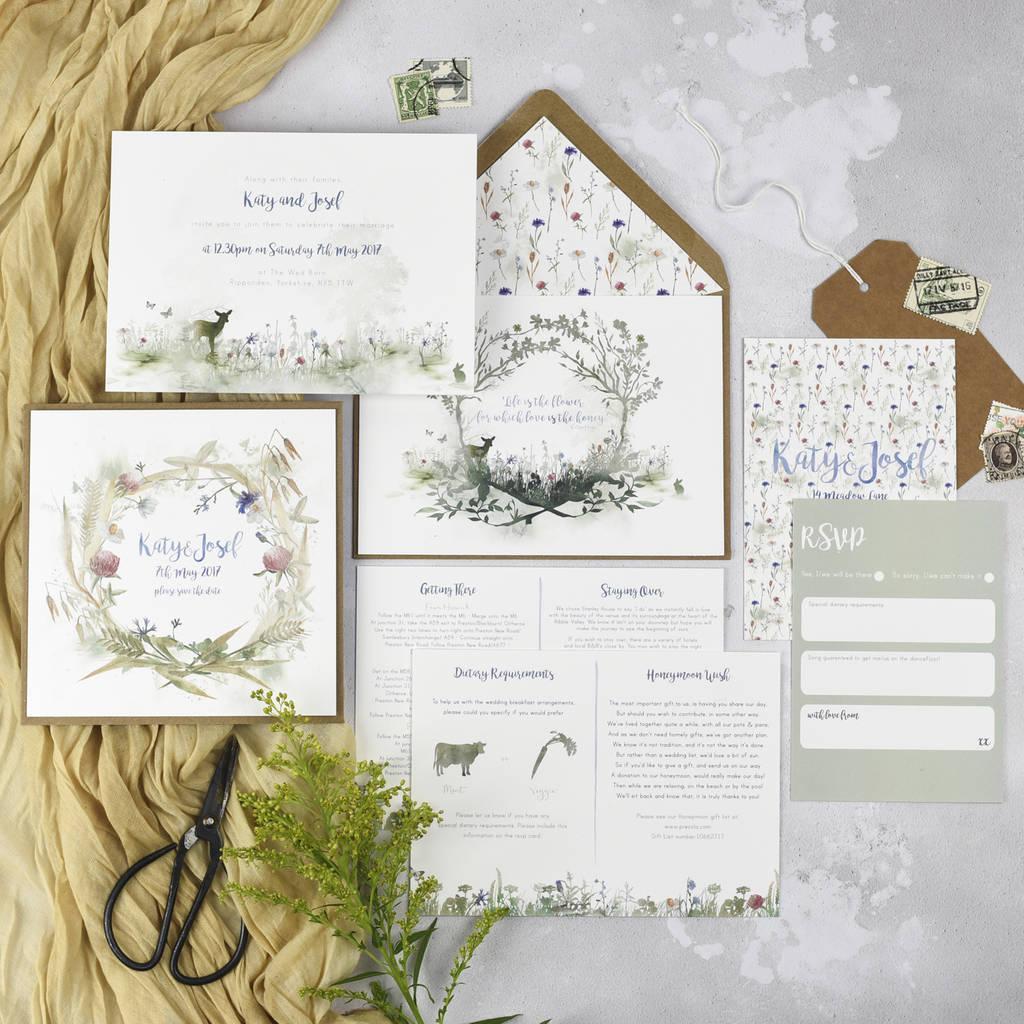 Wedding Invitations With Photos Wildflower Wedding Invitations Julia Eastwood