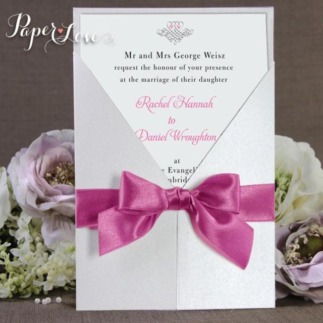 Wedding Invitations With Purple Ribbon Wedding Ideas Wedding Invitations With Ribbon Grandioseparlor