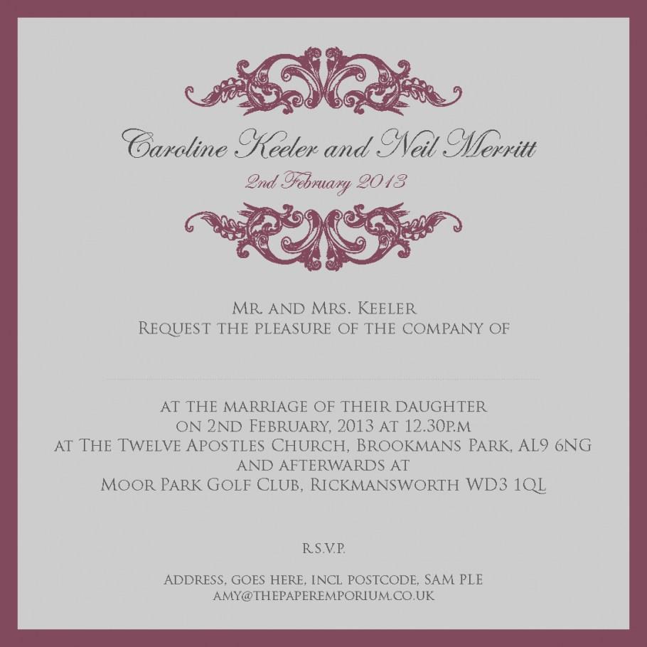 Wedding Invitations Wording Samples 2019 Wedding Invitation Sample Wording Eventinvitationtemplates