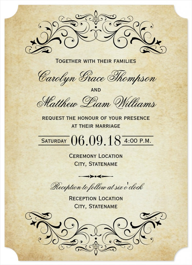 Wedding Invitations Wording Samples Free Wedding Invitation Wording Templates