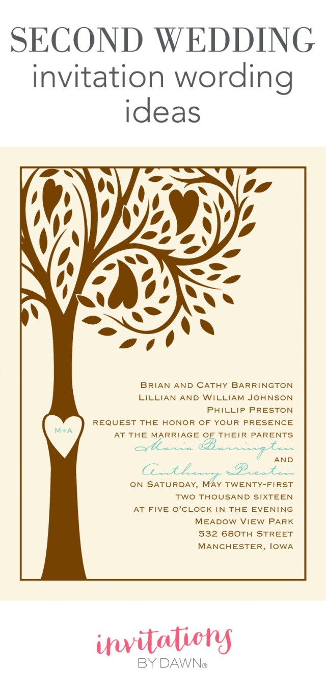 Wedding Invitations Wording Samples Second Wedding Invitation Wording Invitations Dawn