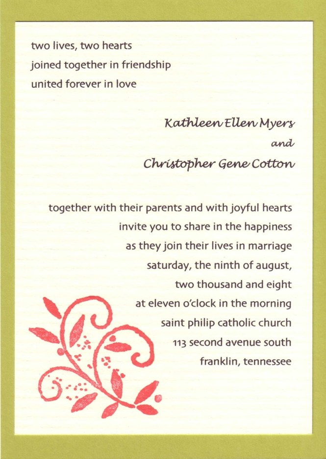 Wedding Invitations Wording Samples Invitation