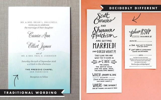 Wedding Invitations Wording Samples Wedding Invitation Wording And Etiquette