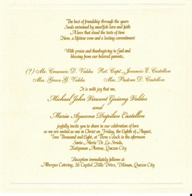 Wedding Invitations Wording Samples Wedding Invitation Wording Examples Marina Gallery Fine Art