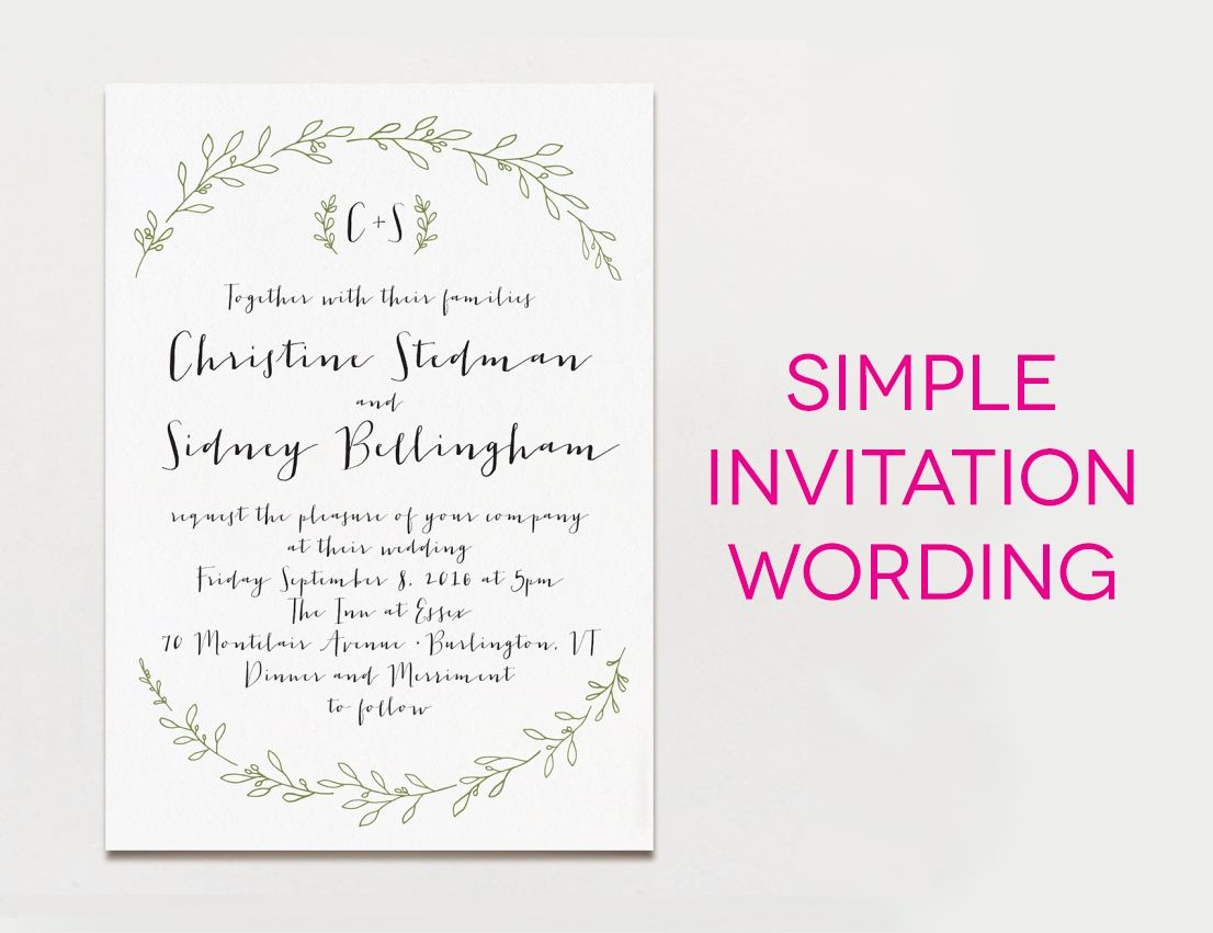 Wedding Invites Wording Wedding Invitation Wording Formal