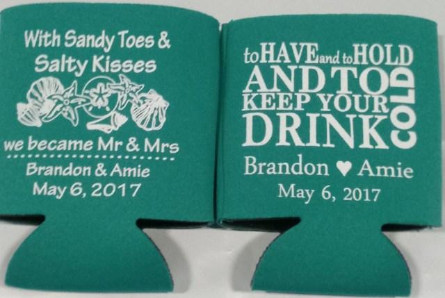 Wedding Koozie Ideas Beach Wedding Koozies Free Wedding Inspirations Website