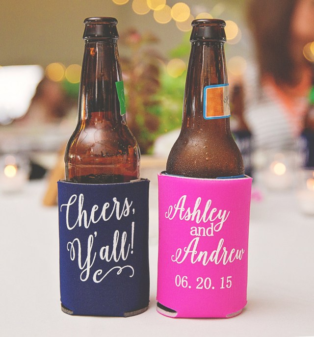 Wedding Koozie Ideas Can Cooler Favors Where To Buy Custom Can Coolers For Weddings