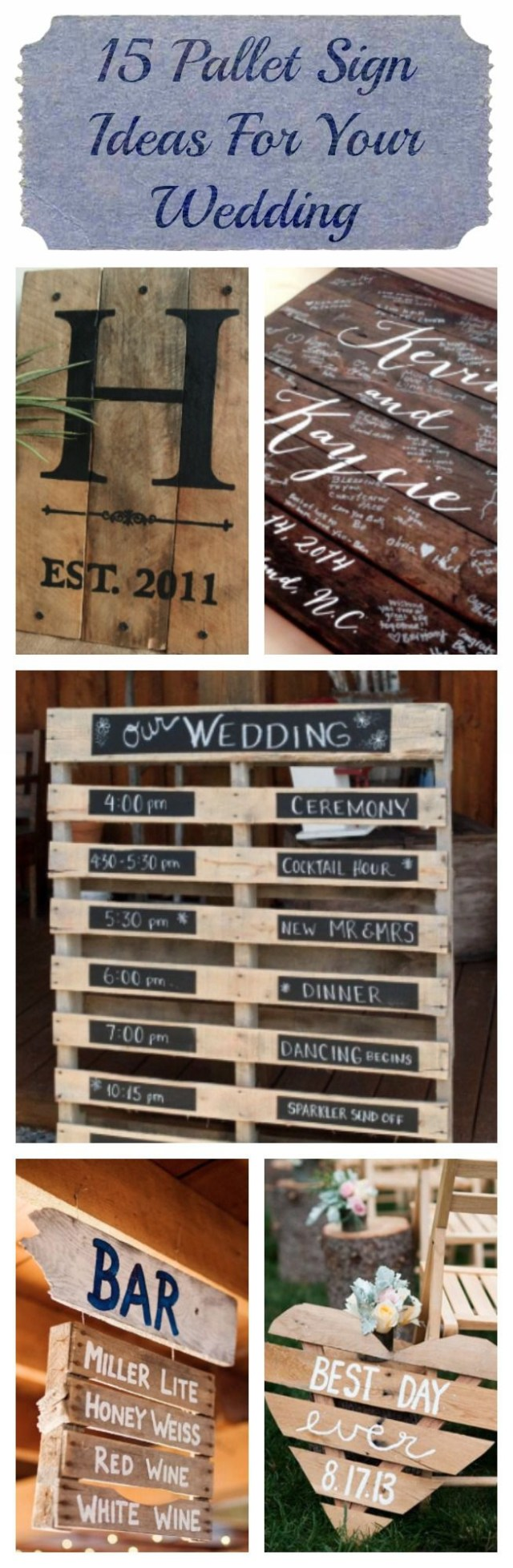 Wedding Pallet Ideas 15 Pallet Sign Ideas For Your Wedding Rustic Wedding Chic