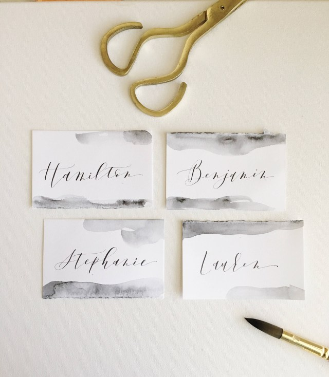 Wedding Placecards Ideas Watercolor Place Cards Wedding Place Cards Calligraphy Place Etsy