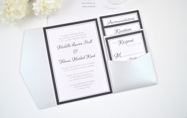 Wedding Pocket Invitations Pocketfold Wedding Invitations Marina Gallery Fine Art
