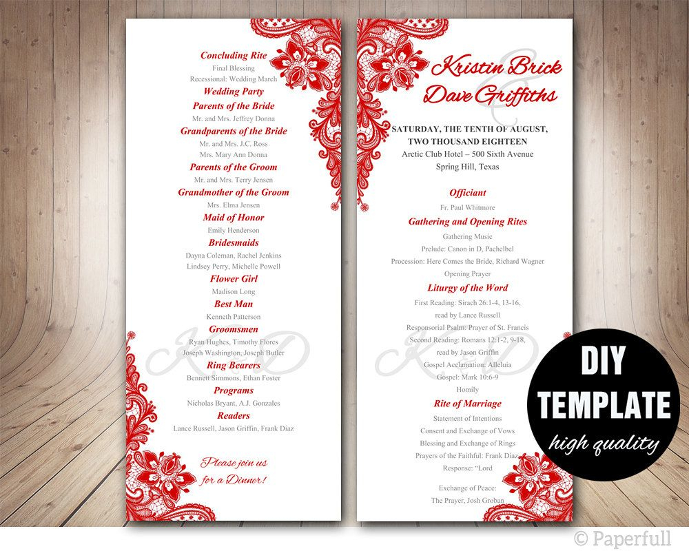 Wedding Program Ideas 005 Free Download Wedding Program Template Ideas Sensational