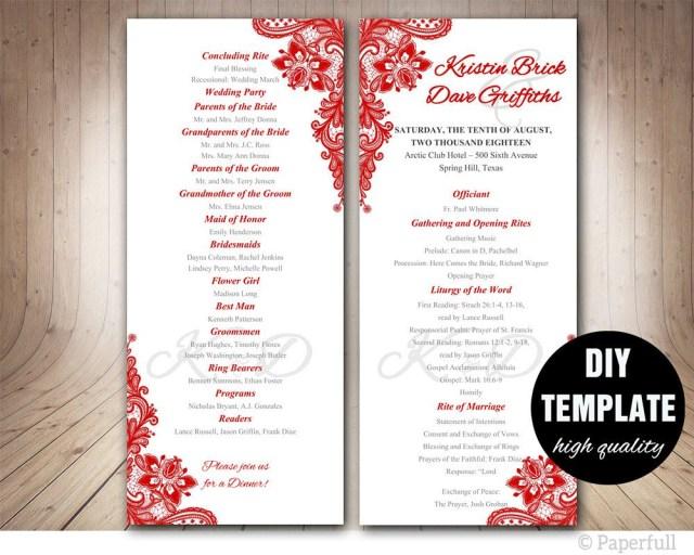 Wedding Program Ideas 005 Free Download Wedding Program Template Ideas Sensational