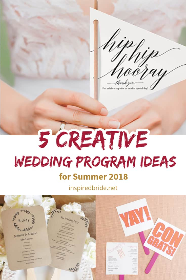 Wedding Program Ideas 5 Creative Wedding Program Ideas For Summer 2019 Inspired Bride