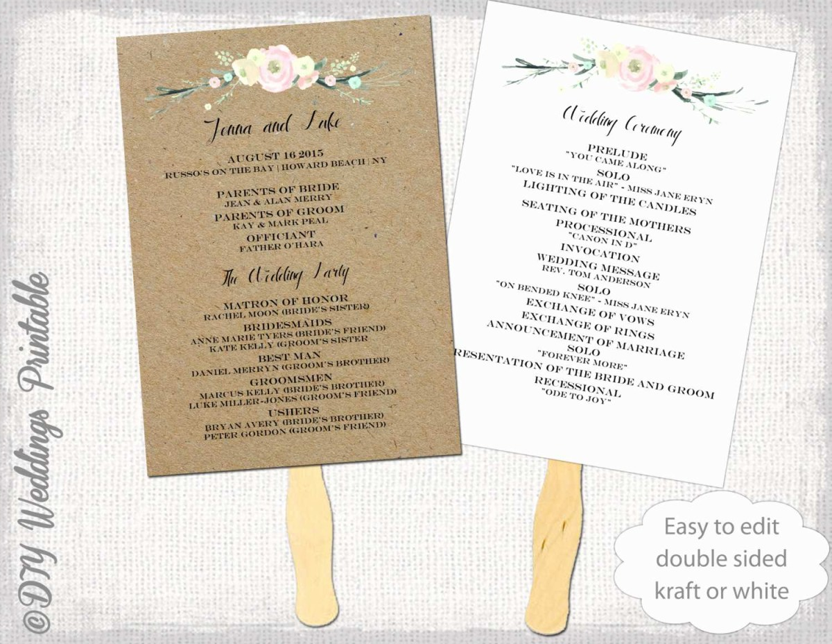 Wedding Program Ideas Wedding Programs Ideas Frais 30 Simple Wedding Program Template