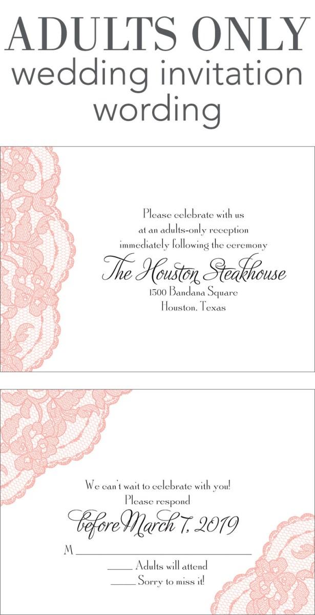 Wedding Reception Invitation Quotes Adults Only Wedding Invitation Wording Invitations Dawn