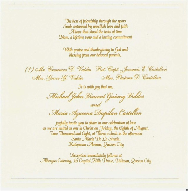 Wedding Reception Invitation Quotes Wedding Invitation Poems And Quotes Beautiful Wedding Reception