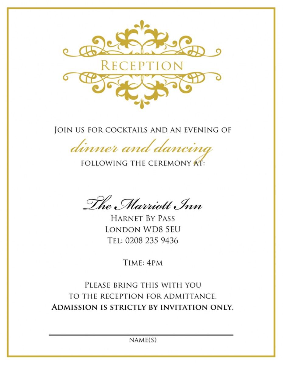 Wedding Reception Invitation Quotes Wedding Invitation Wording From Bride And Groom Wedding Tips