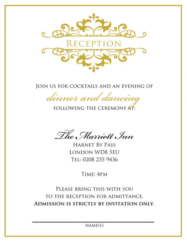 Wedding Reception Invitation Quotes Wedding Invitation Wording From Bride And Groom Wedding Tips