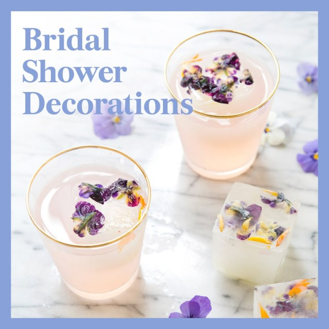 Wedding Shower Decorations 25 Pretty And Affordable Bridal Shower Decorations To Honor The