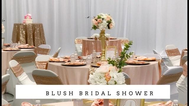 Wedding Shower Decorations Elegant Bridal Shower Decor Blush And Bling Youtube
