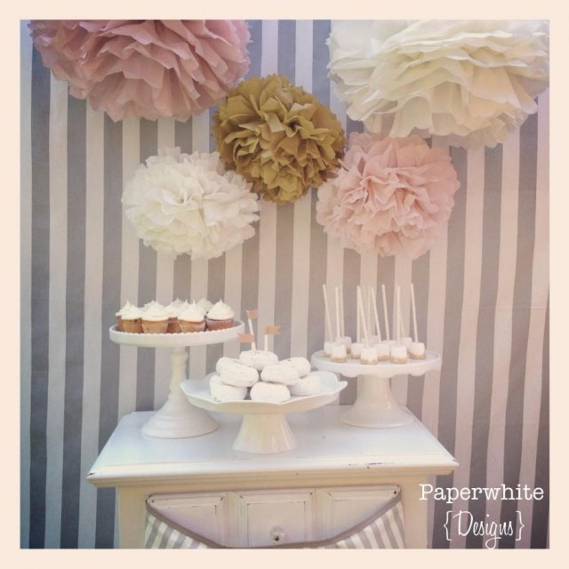 Wedding Shower Decorations Tissue Paper Pom Poms Ba Shower Decorations Girl Ba Shower