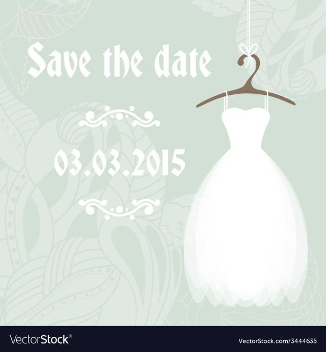 Wedding Shower Invitation Bridal Shower Invitation Cadr Template Royalty Free Vector