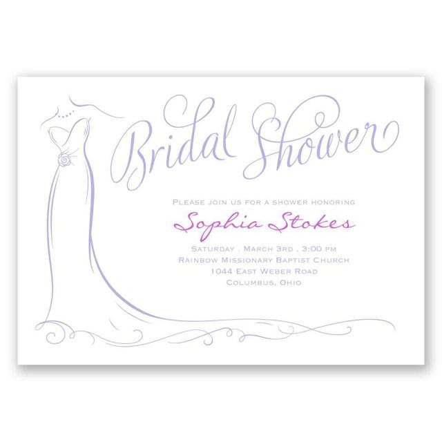 Wedding Shower Invitation Elegant Bride Bridal Shower Invitation Invitations Dawn