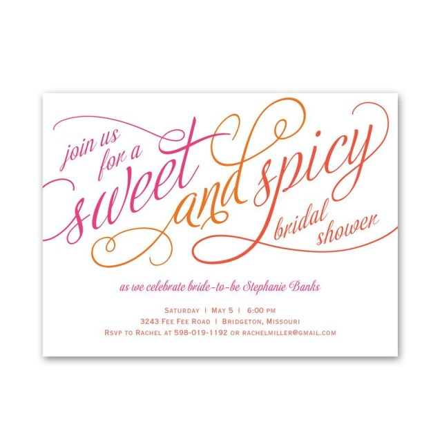 Wedding Shower Invitation Sweet And Spicy Petite Bridal Shower Invitation Invitations Dawn