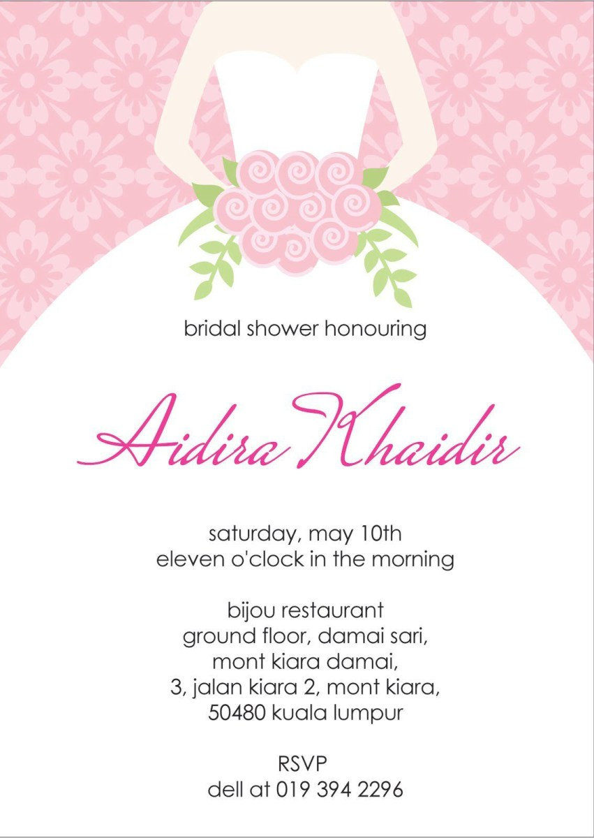 Wedding Shower Invitations Wording Bridal Invitation