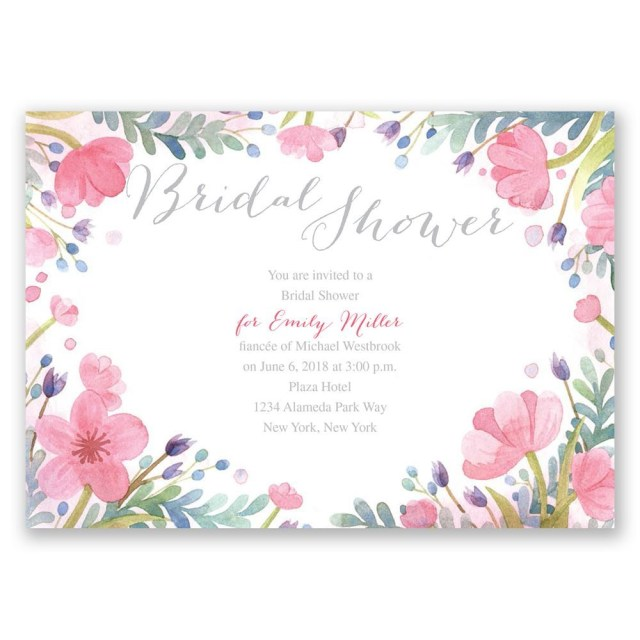 Wedding Shower Invite Pastel Floral Bridal Shower Invitation Invitations Dawn