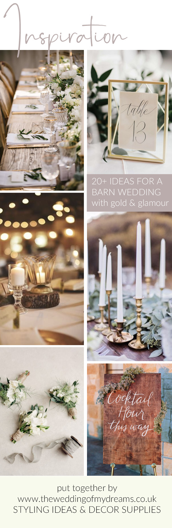 Wedding Styling Ideas 20 Barn Wedding Styling Ideas With A Hint Of Gold