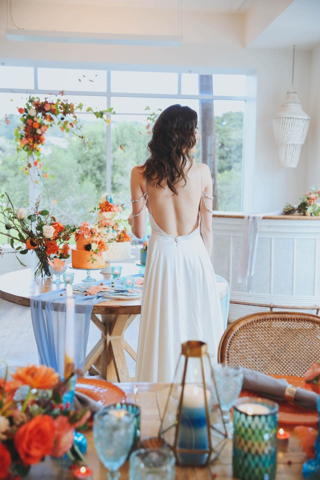 Wedding Styling Ideas 80692 Modern Orange Blue Wedding Styling Ideas At Watsons Bay