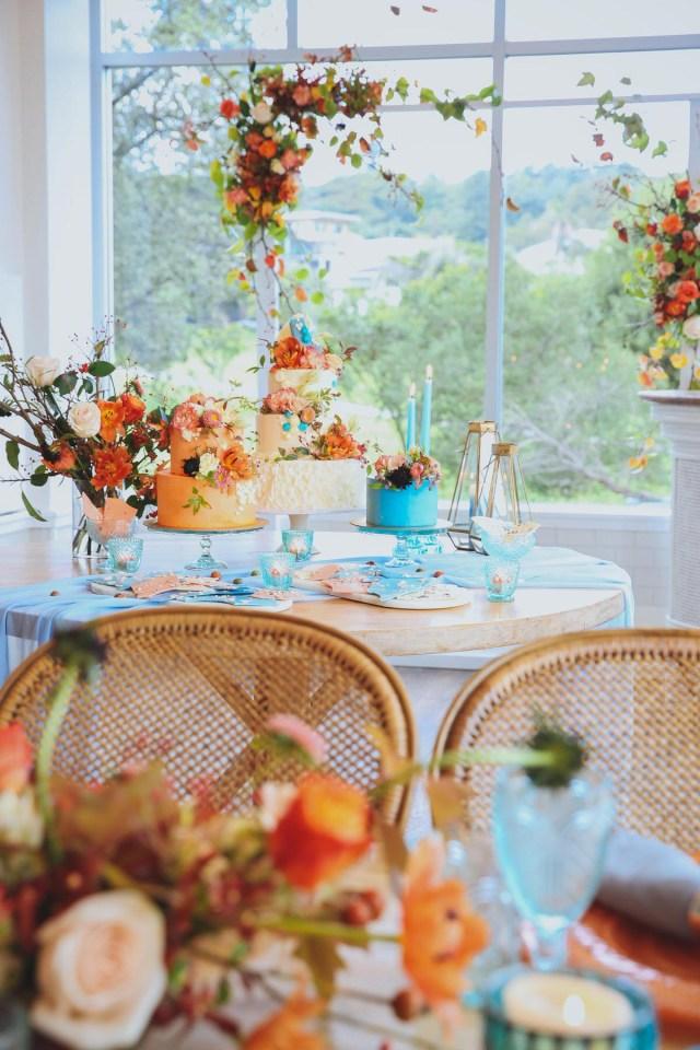 Wedding Styling Ideas 80703 Modern Orange Blue Wedding Styling Ideas At Watsons Bay