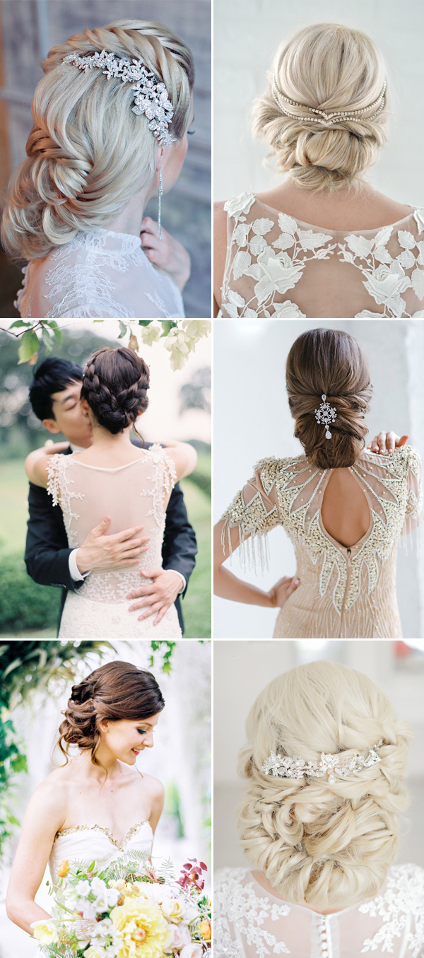 Wedding Styling Ideas Wedding Hairstyle Ideas Low Chignon For Long Hair Deer Pearl Flowers