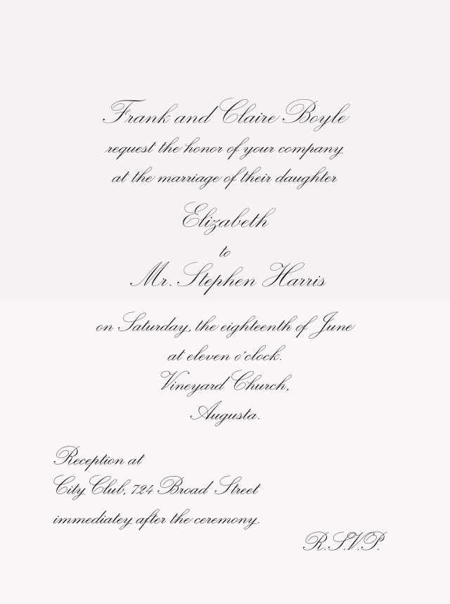 What To Say On A Wedding Invitation Fontshop
