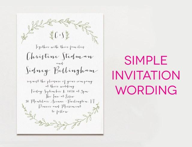 What To Say On A Wedding Invitation Wedding Ideas Wedding Invitation Text Grandioseparlor