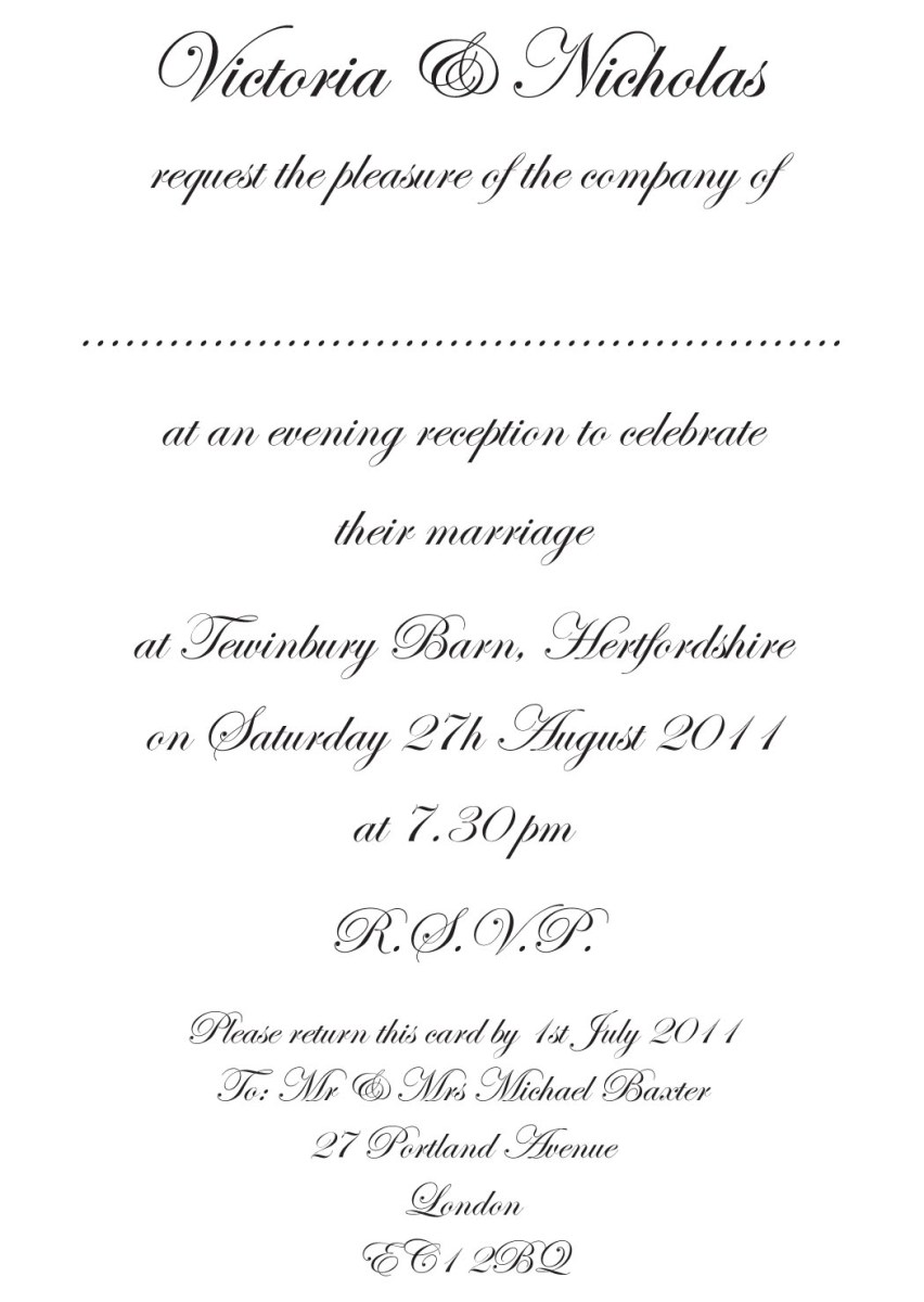 What To Write On A Wedding Invitation Wedding Invitation Message Marina Gallery Fine Art