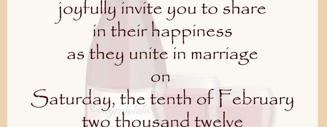 What To Write On A Wedding Invitation Wedding Invitation Wording Samples 21st Bridal World Wedding