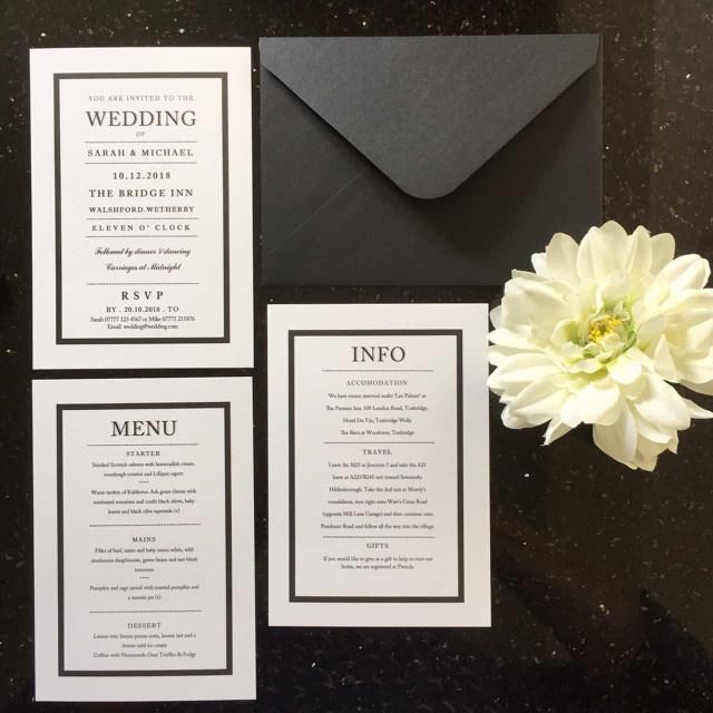 White Wedding Invitations Black And White Wedding Invitations And Stationery Wagtail Designs