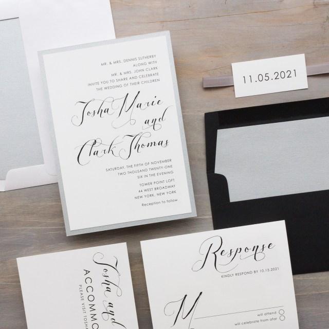 White Wedding Invitations Black White Wedding Invitations Simple Modern Beacon Lane