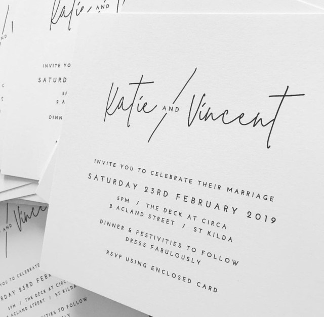 White Wedding Invitations Modern Minimal Black And White Wedding Invitation Wedding